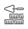 brickwork home repair and tools line icon vector image