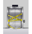 broken elevator closed for repair hand drawn vector image vector image