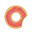 Caramel donut sign vector image