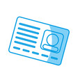 card id icon vector image