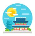 Changdeokgung palace flat design landmark vector image vector image