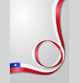 chilean flag wavy background vector image vector image