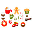 christmas sweets candy clipart vector image