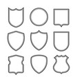 collection of shield silhouettes isolated on white vector image
