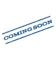 Coming Soon Watermark Stamp vector image