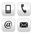 Contact buttons set - email mobile phone vector | Price: 1 Credit (USD $1)