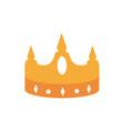 crown monarch jewel treasure luxury vector image
