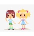 Cute Cartoon kids isolated Girls vector image vector image