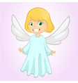 cute happy cartoon girl vector image vector image