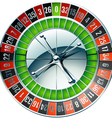 Detailed casino roulette wheel vector image
