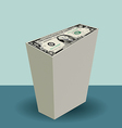 dollar stack vector image vector image