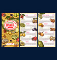 exotic fruits and tropical berries price list vector image vector image