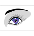 eye heart vector image vector image