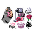 female hands on theme cosmetics and manicure vector image vector image