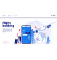 flight booking online budget travel booking in vector image