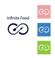 Food and infinity iconFork and spoon sign vector image vector image