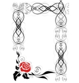 Frame with abstract rose vector image