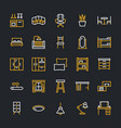 furniture flat line icons living room vector image vector image