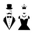 gentleman and lady icon isolated on white vector image