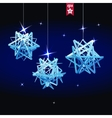 Geometric christmas ball Holidays Background vector image vector image
