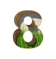 grass cutted figure 8 Paste to any background vector image