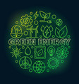 green energy outline colorful vector image vector image