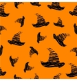Halloween icons seamless of hat vector image vector image