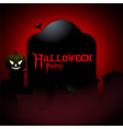 Halloween party tombstone background vector image vector image