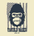 hand drawn trouble maker vector image vector image