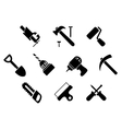 Hand tools and instruments icons vector image vector image