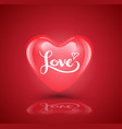 heart with love lettering vector image vector image