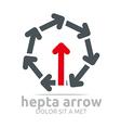 hepta arrow design element symbol icon vector image vector image