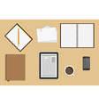 Icons Office Supplies Business Workplace Concept vector image vector image