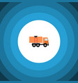 isolated truck flat icon van element can vector image vector image