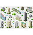 Isometric Megalopolis Building Set vector image vector image