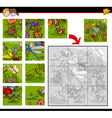 jigsaw puzzles with insects vector image vector image