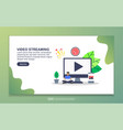 landing page template video streaming modern vector image