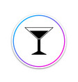 martini glass icon isolated cocktail icon vector image