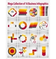 Mega Collection Infographic Template Business vector image