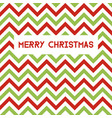 merry christmas greeting card with chevron pattern vector image