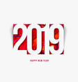 new year 2019 background paper style vector image