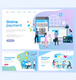 online payment and transaction security pages vector image vector image
