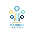 original logo of machine learning computer vector image vector image