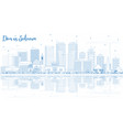 outline dar es salaam tanzania city skyline with vector image vector image