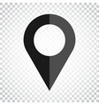 pin icon location sign in flat style on isolated vector image vector image