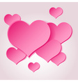 pink valentine hearths from paper decoration vector image vector image