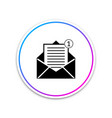 received message concept envelope icon isolated vector image vector image