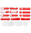 red interface buttons web icons vector image vector image