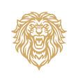 roaring lion gold logo mascot vector image vector image