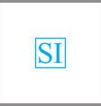 s i letter logo vintage design vector image vector image